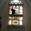 Stained glass work in prorgess